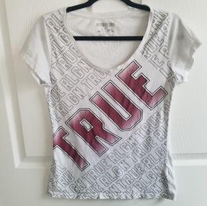 True Religion White T Shirt S